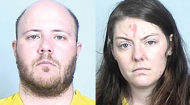 BRETT AND SARA HALLOW  pled guilty Monday to the murder of their daughtery. (Booking Photos)