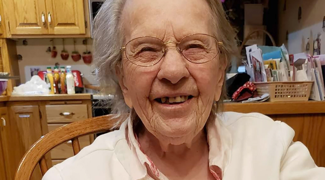 GLEVA CRESWELL of Big Lake recently celebrated her 101st birthday. (Submitted photo.)