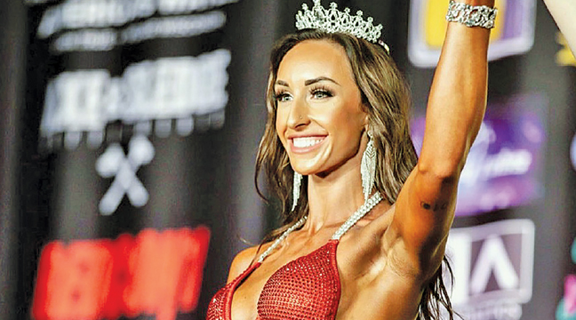 BROOKE BROWER was recently crowned champion of the NPC Brew City bodybuilding competition  in Waukesha, WI. (Submitted Photo)