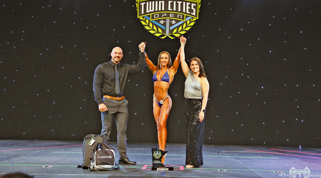 BROOKE BROWER also captured first place the NPC Twin Cities Open competition in Minneapolis and now sets her sights nationally at the 2021 NPC USA Bodybuilding Championships in Phoenix, AZ at the end of this month. (Submitted Photo)