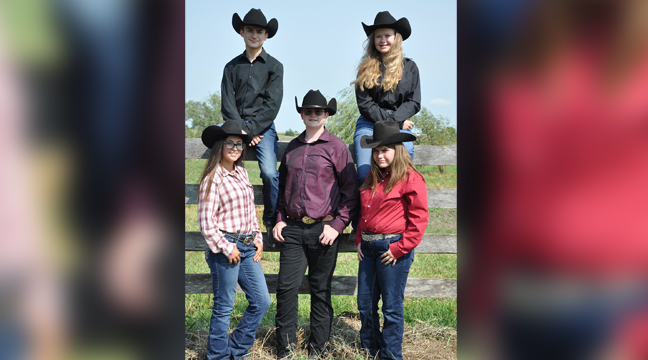 THE SHERBURNE COUNTY 4-H JUDGING TEAM. (Front Row L to R) Marissa Mox, Colton Rosenlund, Mykailah Aucapina, (Back Row) Caitlyn Harvey, and Aidan Rizk. (Submitted photo.)