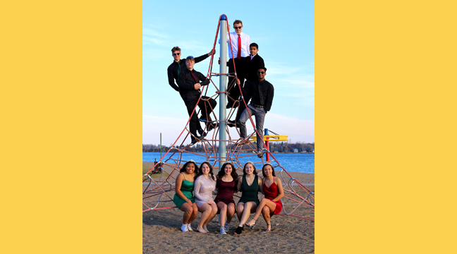 THE BIG LAKE HOMECOMING ROYALTY took a group photo on the jungle gym at Lakeside Park. Top row: Brandon Stern, Aiden Miller, Reed Bottema Alex Ombongi, and Tre Gordy (Homecoming King). Bottom Row: Alli Nguyen, Emma Rezac, Hailey Dixon, Mia Huberty (Homecoming Queen),  and Ava Vizenor. (Submitted photo.)
