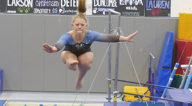 RILEY NORBERG  protected the ball from a Hornet defender as she prepared to make a move on the ball. (Submitted Photo)