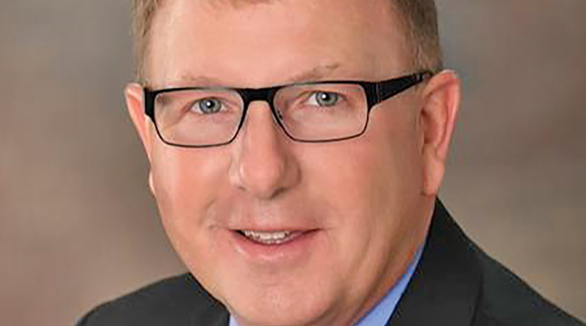 REP. PAUL NOVOTNY visited the recent Big Lake Twp. meeting to encourage the supervisors to reach out to him with any issues the township may face that could be addressed in the next legislative session. (Photo by Katherine Cantin.)