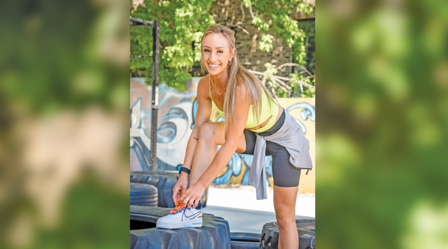 BROOKE BROWER, formerly of Becker and Clearwater, has her own fitness and wellness program and is competing in various bodybuilding competitions throughout the state. (Submitted Photo)