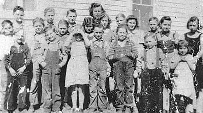 KRAGERO DISTRICT 47 CLASS OF 1941. Pictured in front row: Harold Johnson, Thomas Radziej, Kathleen Jackels, Arnold Edson, Buddy Johnson, Fred Adams, Barbara Jackels. Second row: Leroy Kennedy, James Pittman, Wallace Erickson, Betty Radziej, Alice Pittman, Angeline Radziej, Arelene Edson, Donna Pittman. Back row: Gordon Jenson, Donald Pittman, Arnold Radziej, Lucille Edson, Duane Peterson and Ronald Johnson.(Submitted Photo).