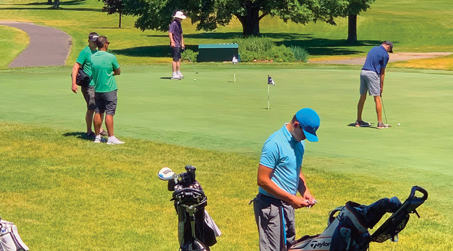 PEBBLE CREEK was abuzz this week under ideal weather conditions for the MSHSL Class A State Tournament in Becker. (Patriot Photo by Bill Morgan)