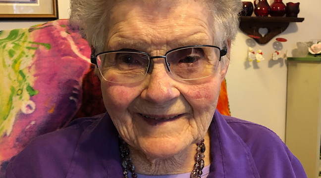 """TERESE WEIS of the Palmer area, said, """"I'm grateful to be at home with my family and thankful for the care they are able to give me. I am thankful for my faith in the good Lord."""" (Submitted photo.)"""